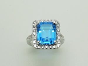 青い石のリングAfter2