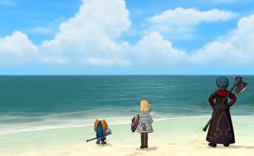ラーディス王島の海岸で待つ