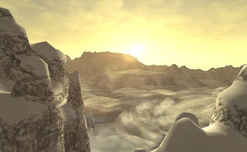 熊爪嶽の朝日