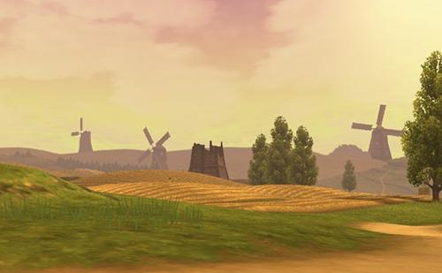 美しい穀倉地帯に突入