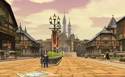 城下町に到着ー