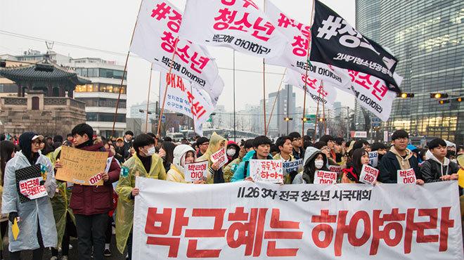 朴大統領退陣要求デモ