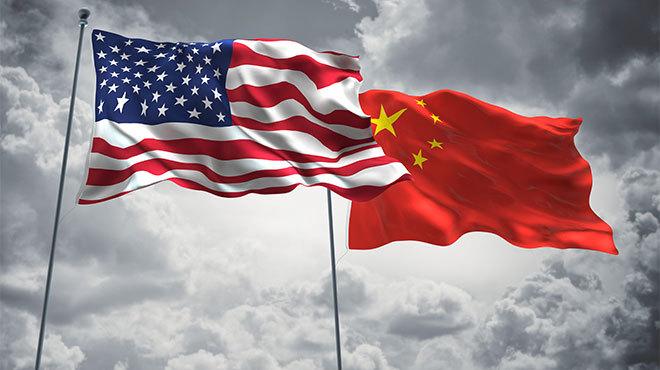 アメリカと中国 国旗