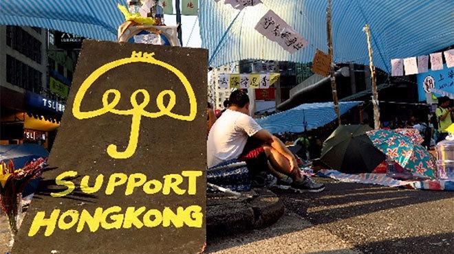香港 傘デモ