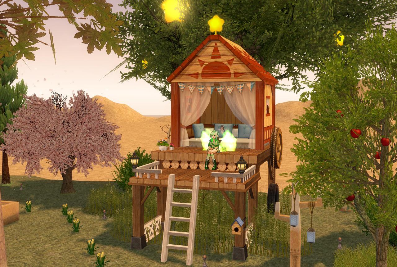 木の上の小屋1