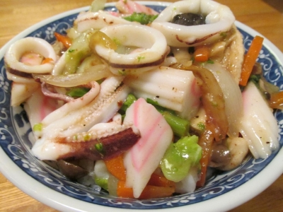 ヤリイカたっぷり中華丼2