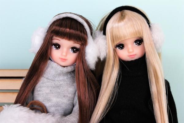 ニットワンピ双子コーデ1374