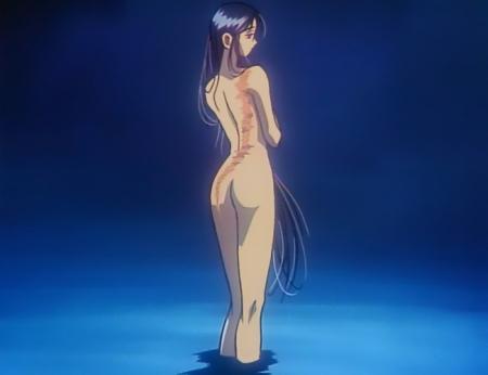 からくりの君 文渡蘭菊の全裸ヌード水浴びシーンお尻9