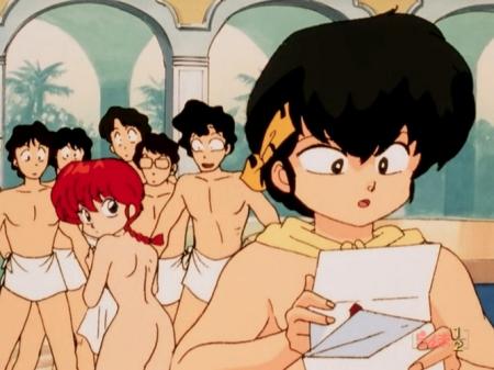 らんま1/2TV版 早乙女らんまの全裸ヌード銭湯入浴シーン271
