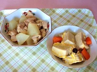 170228_4473 大根と鶏肉の旨煮・高野豆腐の玉子とじVGA