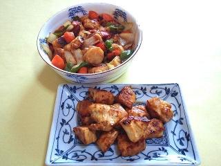 170324_4517 シウマイの酢豚・鶏むね肉の甘辛黒酢炒めVGA