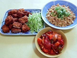 170403_4531 財田さんの料理・一口豚ヒレカツ・炒飯・和風甘味噌のラタトゥイユVGA