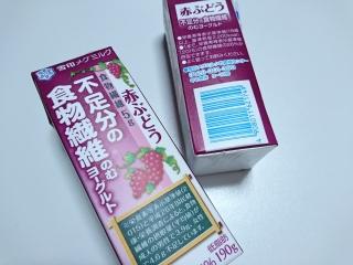雪印メグミルク 不足分の食物繊維のむヨーグルト赤ぶどうa