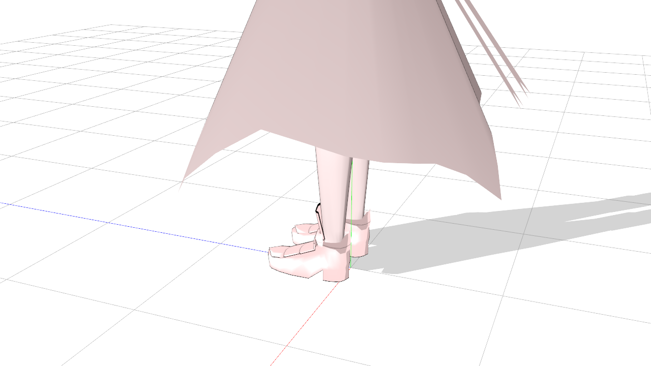 2017/04/25 MMDジャンヌ・タルト製作中 スカート横やや後ろ