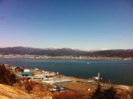 3月の諏訪湖