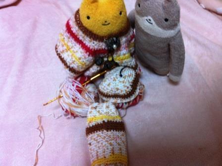 編み猫胴体