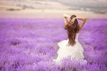 ロマンティックなラベンダー畑