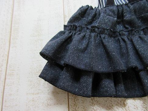 M*mania★ルビーちゃんのデニムフリルスカート: