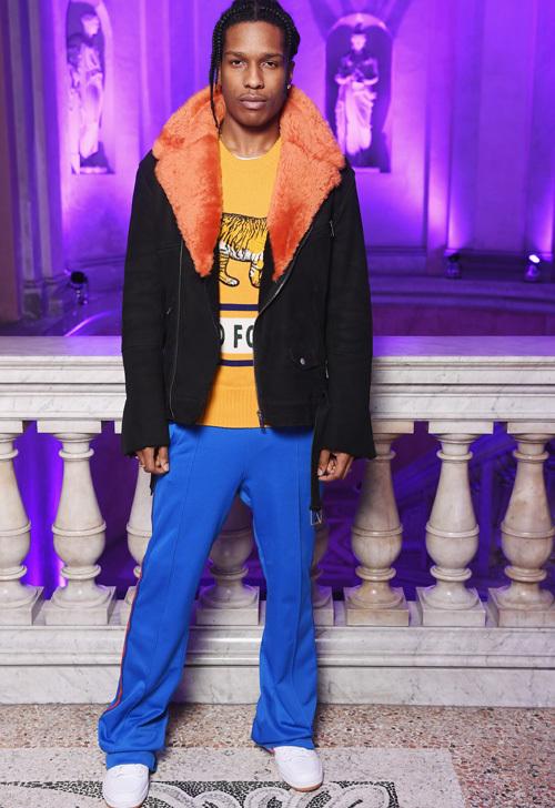 エイサップ・ロッキー(A$AP Rocky):グッチ(Gucci)/ゴーシャ・ラブチンスキー (Gosha Rubchinskiy)