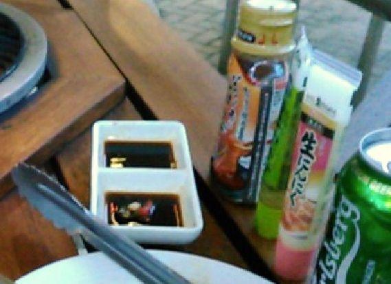 日本からわさび、ニンニク、焼肉のタレを持ち込み