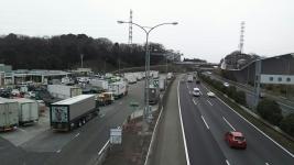 日本の大動脈、東名高速港北PA