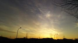 2月22日朝焼け