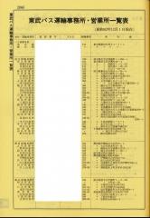 東武鉄道バス事業本部時代の一覧表