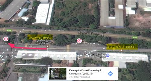 バンダラナイケ空港見取り図