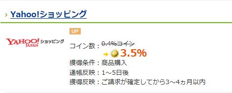 CLUB Panasonic経由でヤフーショッピング利用