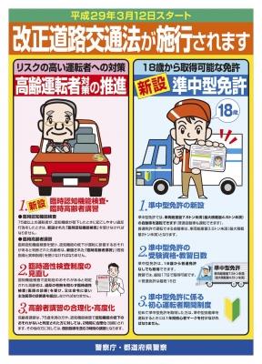 改正道路交通法が施行されます【平成29年3月12日スタート】1