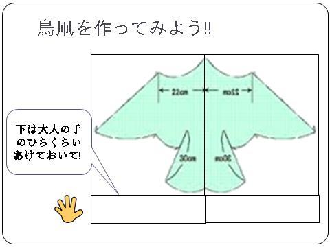 鳥型凧の作り方1