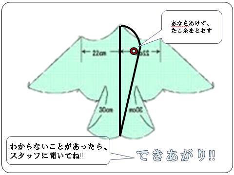 鳥型凧の作り方6