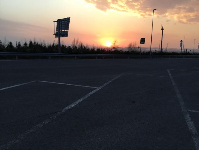 14日 北海道より夕日