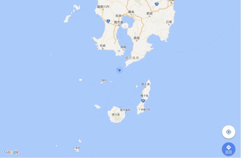 24日日付が変わり 鹿児島県沖
