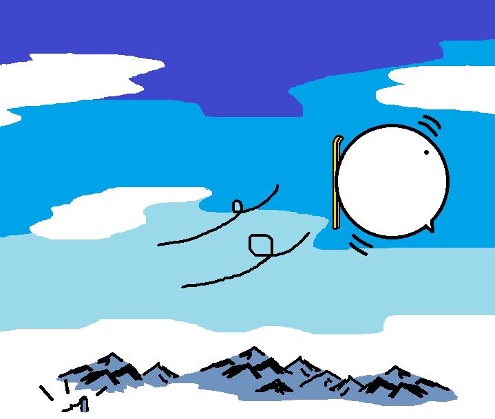 366つちのこスキーをする8