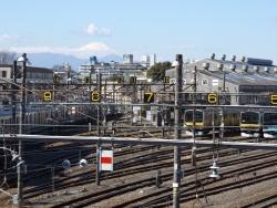 20170303三鷹跨線橋からの富士山1