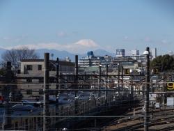 20170303三鷹跨線橋からの富士山5