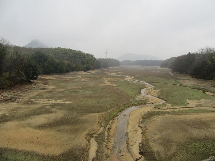 水が無い岩瀬池 29.2.9