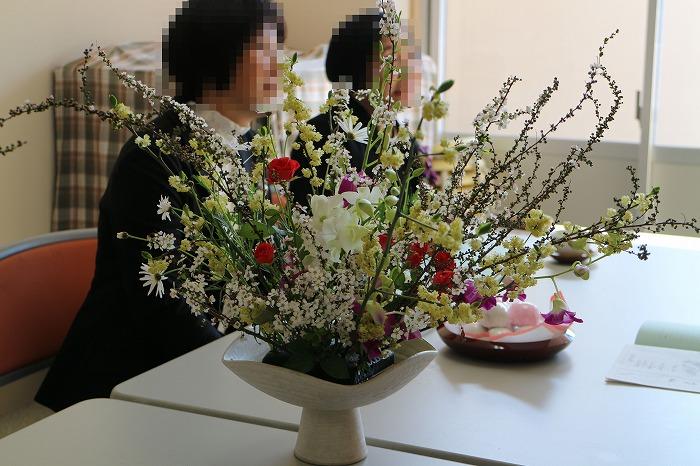 卒業室 控室のお花 29.3.17