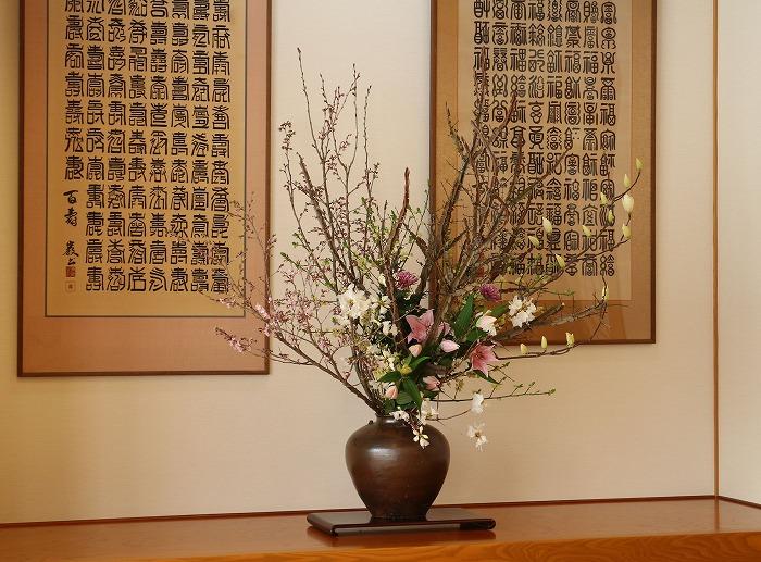 控室お花 卒業式 29.3.17