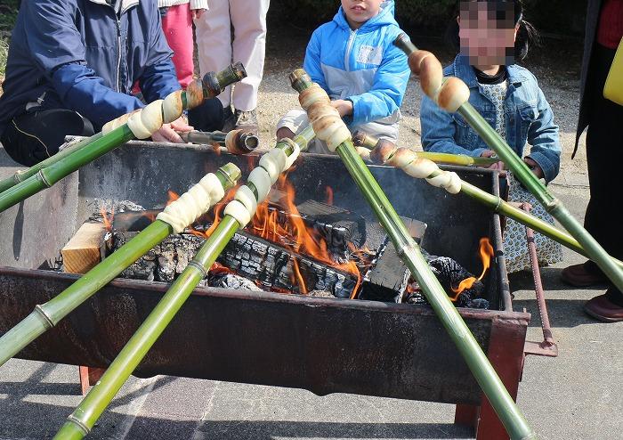 竹パン焼き 29.3.18