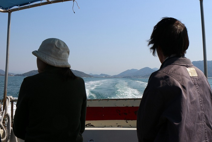 粟島へ 徳島から友達 29.4.4