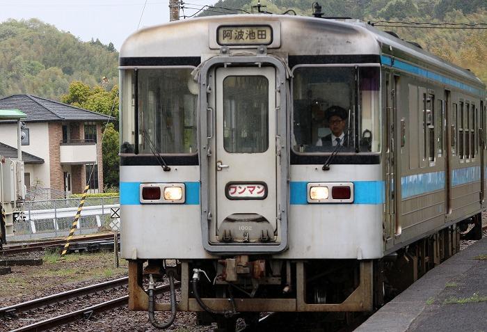 財田駅に来た電車 29.4.17