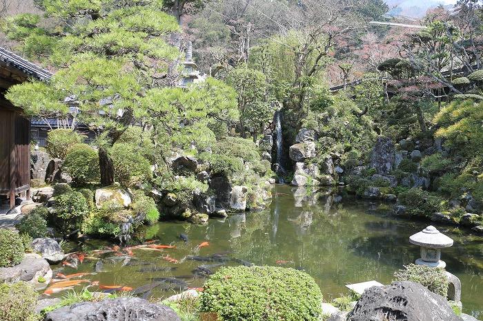 庭 自然の水を利用した滝 29.4.14