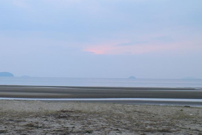 チチブヶ浜 夕方 曇り空 29.2.26