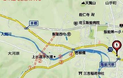 ☆2017 02 04 仮称_飯能大河原線橋梁_新設工事 地図