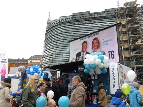 ヘルシンキ Kamppi Narinkkatori 選挙運動