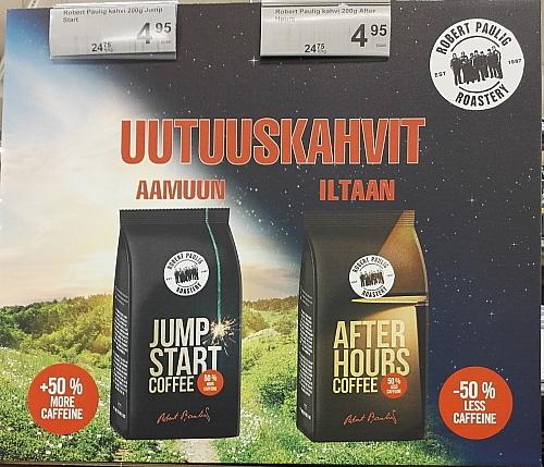 フィンランド ロバーツコーヒー 朝用 夜用 Roberts coffee Aamu Ilta
