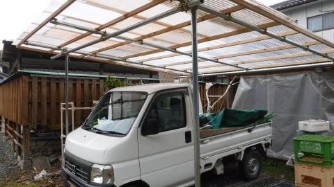 2017.3.18車庫完成