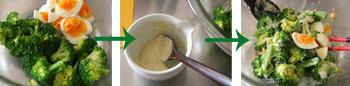 ブロッコリーと卵のわさびマヨサラダ